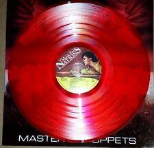 METALLICA MASTER OF PUPPETS, 180 GRAM TRANSPARENT RED COLORED VINYL LP IMPORT