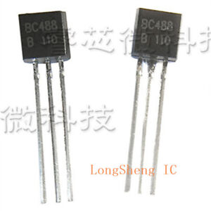 10PCS-BC488B-BC488BRL1G-TO-92-high-current-transistor-PNP-silicon-NEW