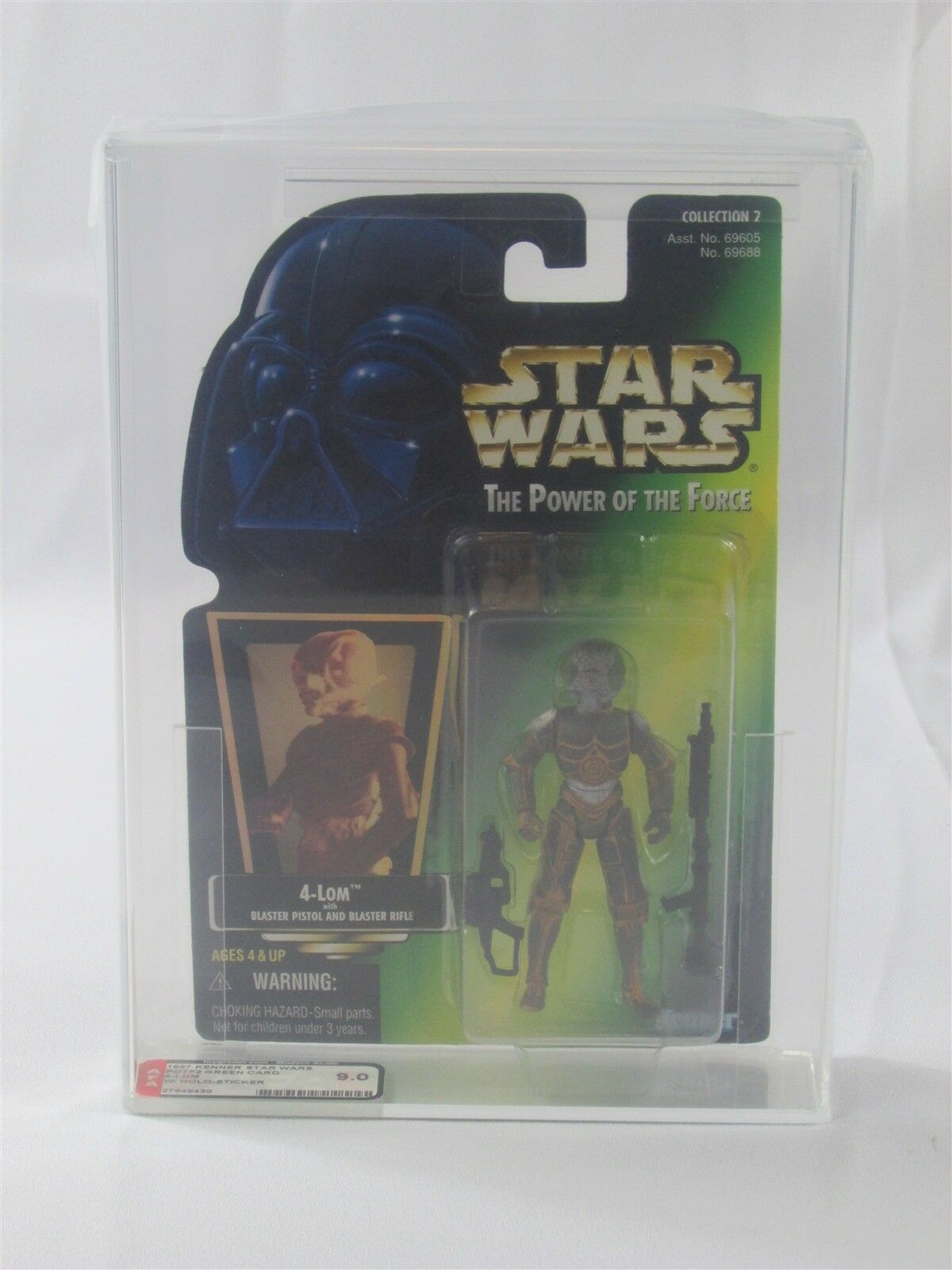 STAR WARS POTF2 4-LOM HOLOGRAM AFA 9.0 1997 KENNER HIGH GRADE