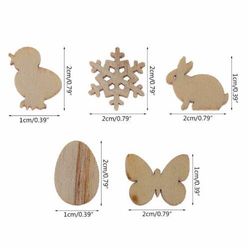 50pcs Laser Cut Wood Easter Egg And Rabbit Wooden Shape Craft Wedding Decor