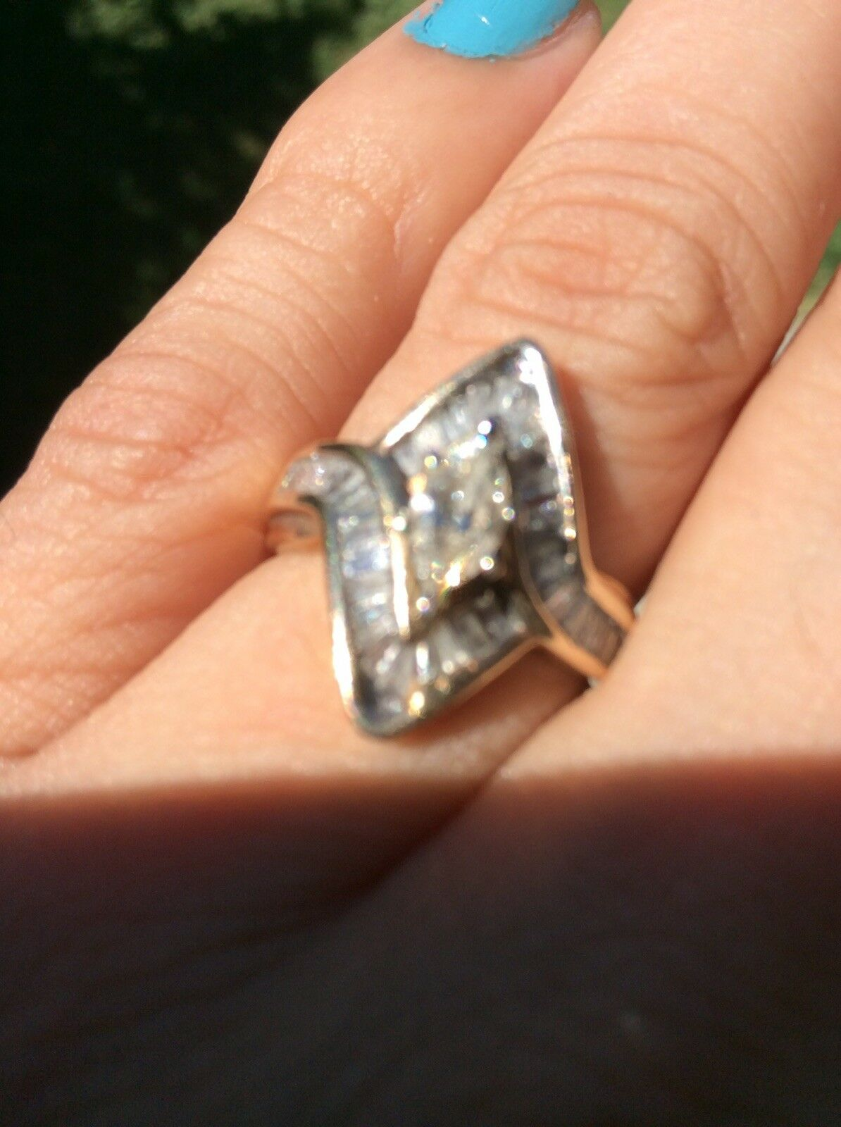 1ct natural Diamond Ring  size 7 yellow gold  I-j in color