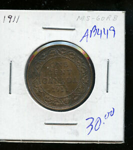 1911-Canada-Large-Cent-MS60-Red-and-Brown-DC337