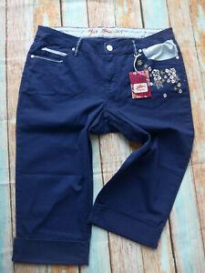 7-8-Trousers-Bermuda-Blue-Joe-Browns-Ladies-Size-44-to-58-plus-Size-256