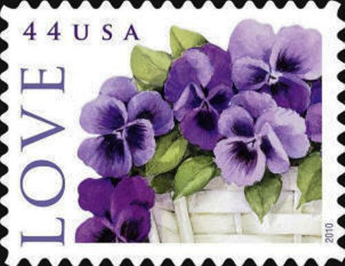 2010 44c Love Special Issue, Pansies in a Basket Scott