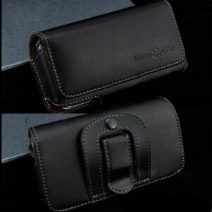 Genuine-Cowhide-Leather-Case-Skin-Holster-Belt-Clip-Pouch-For-Multi-Smartphones