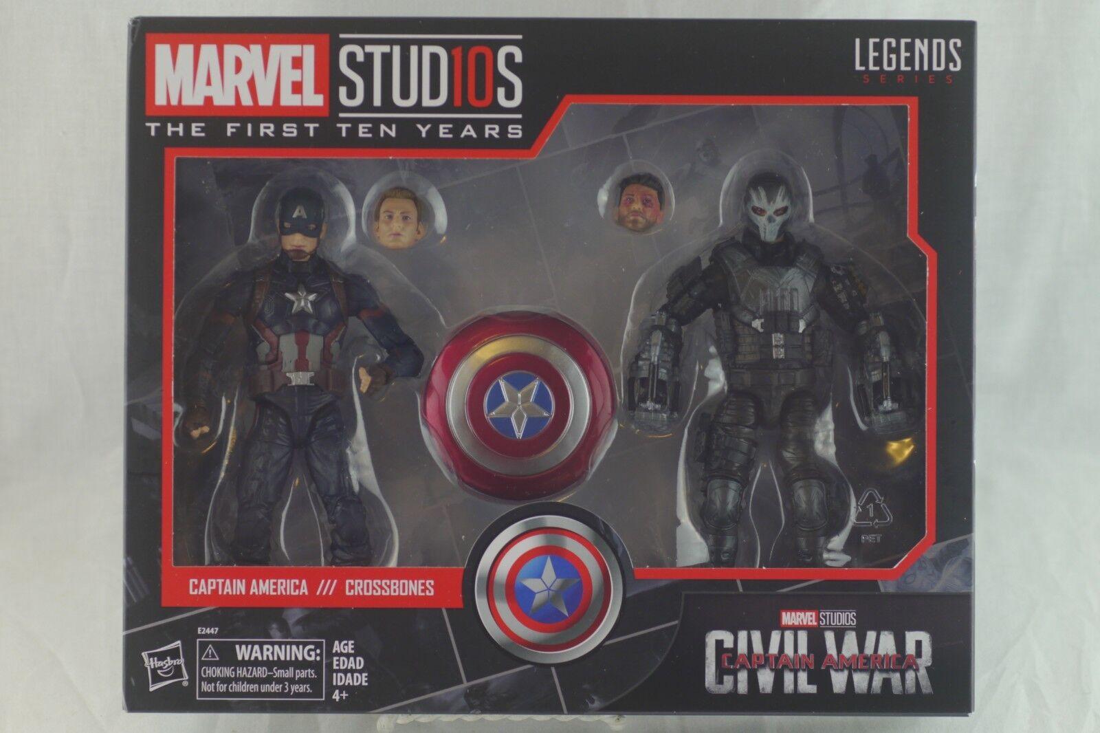 Marvel Legends Studios CAPTAIN AMERICA & CROSSBONES primero 10 Years Civil War