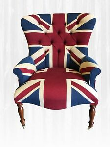 Marvelous Details About Union Jack Armchair Handmade In Uk New Chair Shabby Chic Interior Design Ideas Gentotryabchikinfo
