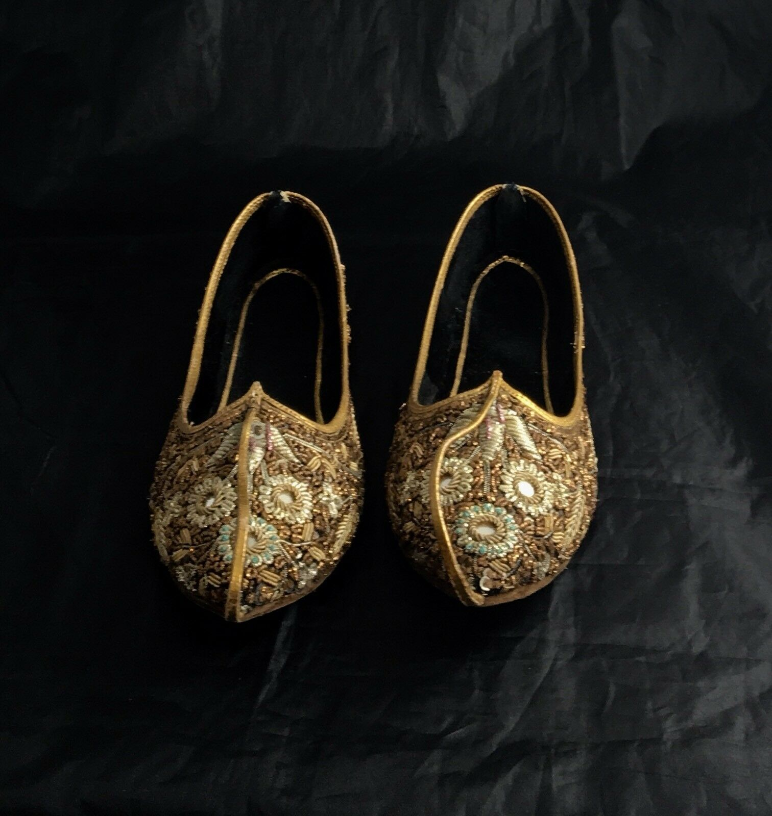 Indian Traditional All Hand Made Beaded Flat shoes