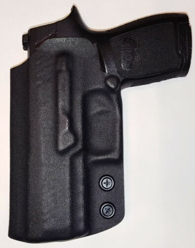 Black Kydex Holster - IWB Sig Sauer P320 COMPACT Inside the Waistband