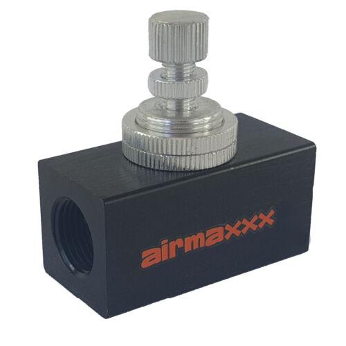 """Inline Adjustable Air Flow Control Valve Female 3//8/""""npt Air Suspension Aluminum"""