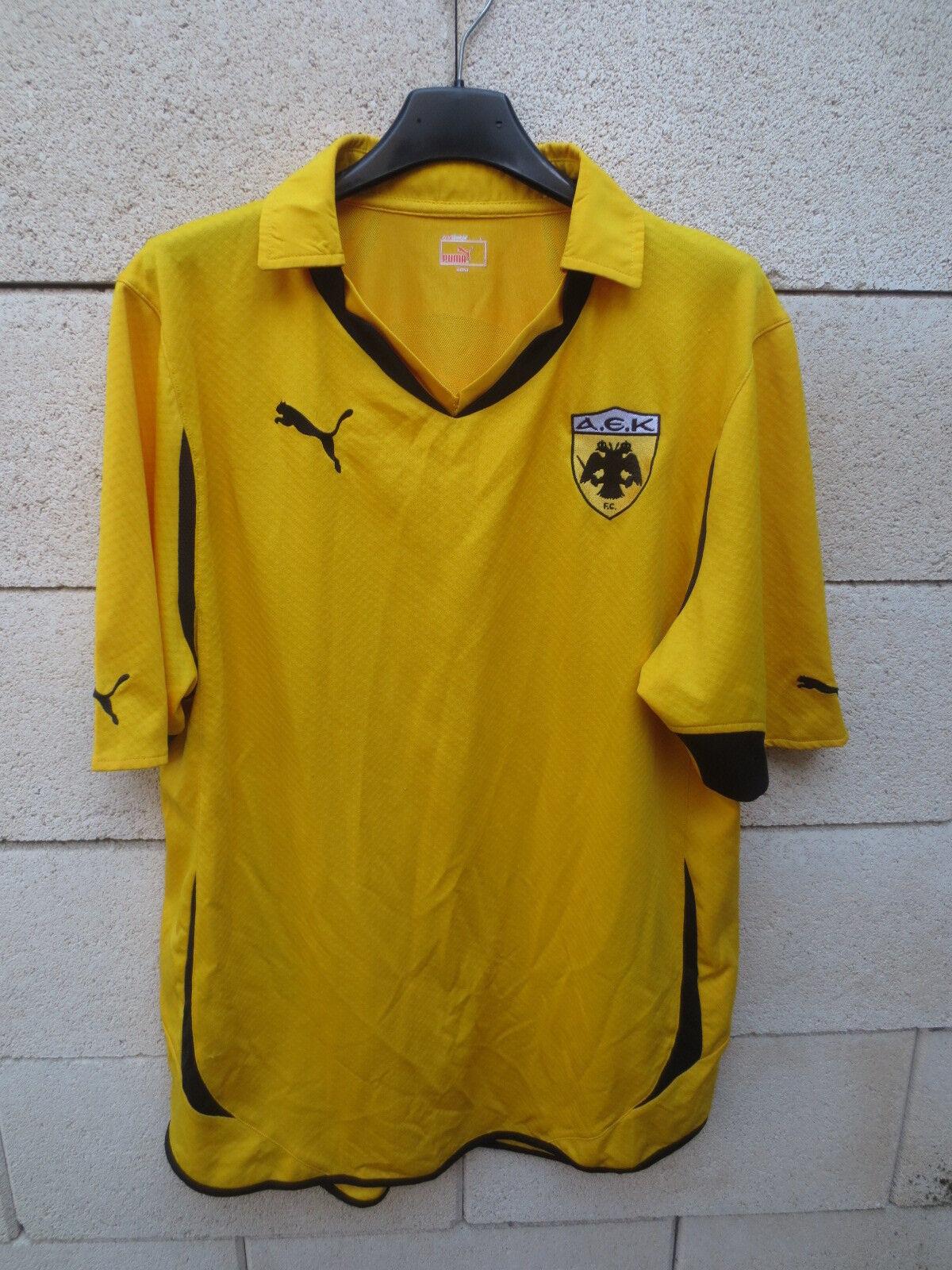 Maillot AEK ATHENES ATHENS 2012 PUMA football shirt jersey maglia L