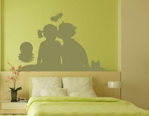 Children on the Beach Watching Sunset highest quality wall decal stickers