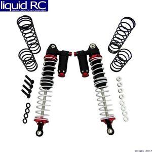 X помощью QT xptd 120FW02 rouge et noir 120 mm Aluminium Réglable Piggyback shocks 2