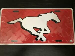 Calgary Stampeders Diamond Style Metal License Plate (New) Calgary Alberta Preview