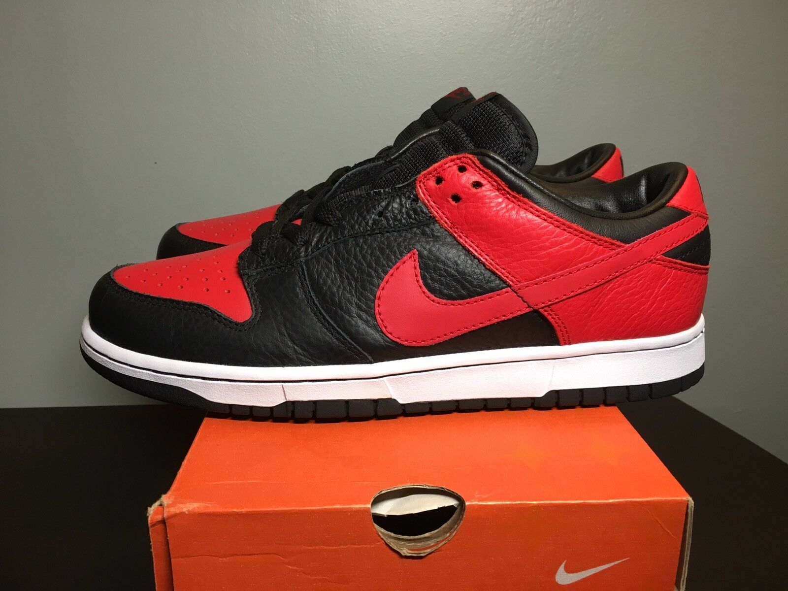RARE 2018 Nike Dunk Low Black Red JD Sports Exclusive Bred 304714-062 Comfortable New shoes for men and women, limited time discount