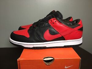official photos 90dc5 f411d Image is loading RARE-2004-Nike-Dunk-Low-Black-Red-JD-