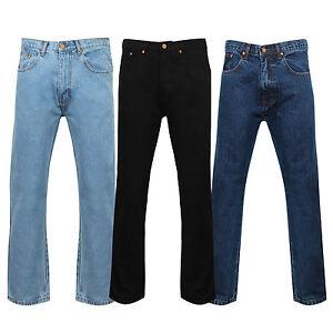 Zip Homme Standard Confort Jean Ajusté Braguette Jeans Régulier T6Yw6S