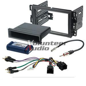 Car-Radio-Stereo-CD-Player-Dash-Install-Mounting-Trim-Bezel-Panel-Kit-Harness