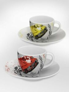 orig-MERCEDES-Tazas-del-cafe-Express-Magnifico-Miglia-2-Set-Taza-Porcelana-Por