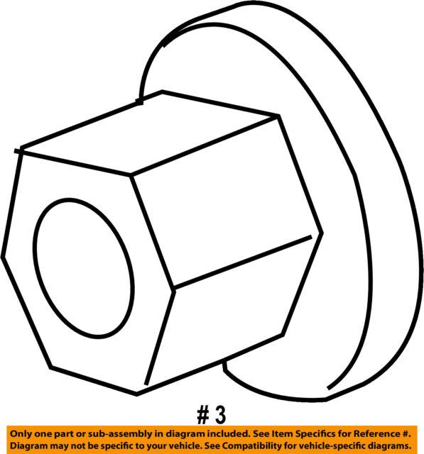 Ford Oem Suspension Strut Nut W710015s440 Image 3