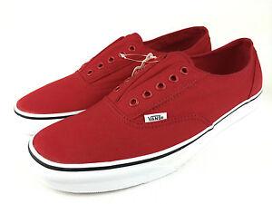 VANS-AUTHENTIC-Men-039-s-LACELESS-Classics-Canvas-Shoes-RED-Men-039-s-US-10-5-amp-11-5