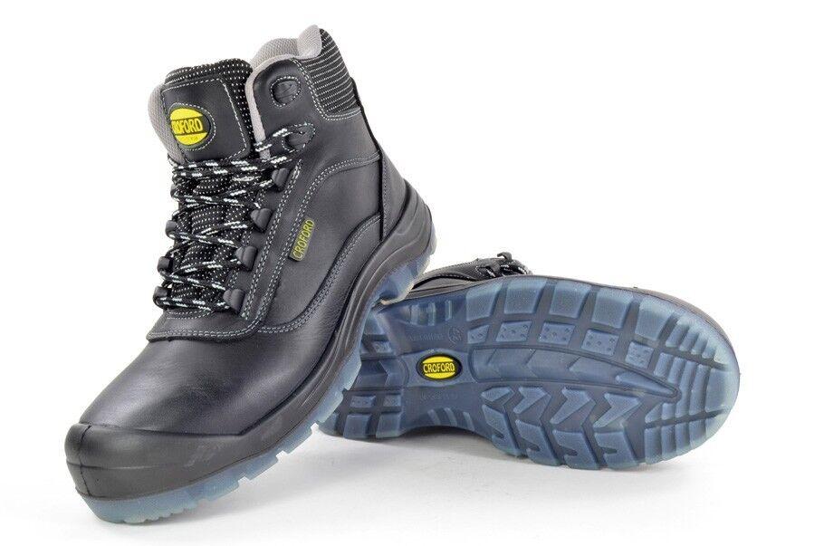 Homme Sécurité Travail Embout Métal Gratuit Bottes Chaussures CROFORD Designer