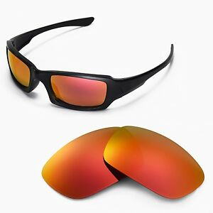 New Wl Polarized Fire Red Replacement Lenses For Oakley