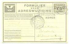 NEDERLAND 1937-1-29  IJSVLUCHT  VERHUISKAART NAAR SCHIERMONNIKOOG  #VH 38