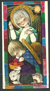 Postal-antigua-de-Ferrandiz-andachtsbild-santino-holy-card-santini
