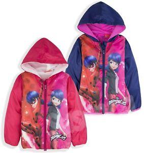 Miraculous-Ladybug-Girls-Jacket-Windbreaker-Rain-Coat-Character-Warm-3-8-Yrs