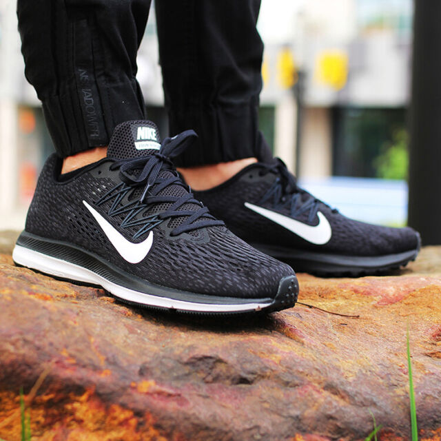 sale retailer 85c5e 087de Nike Air Zoom Winflo 5 sz 13 aa7406 001 black trainer running shoes 720