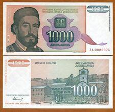 Yugoslavia, 1000 Dinara, 1994,  P-140r, UNC > ZA Replacement