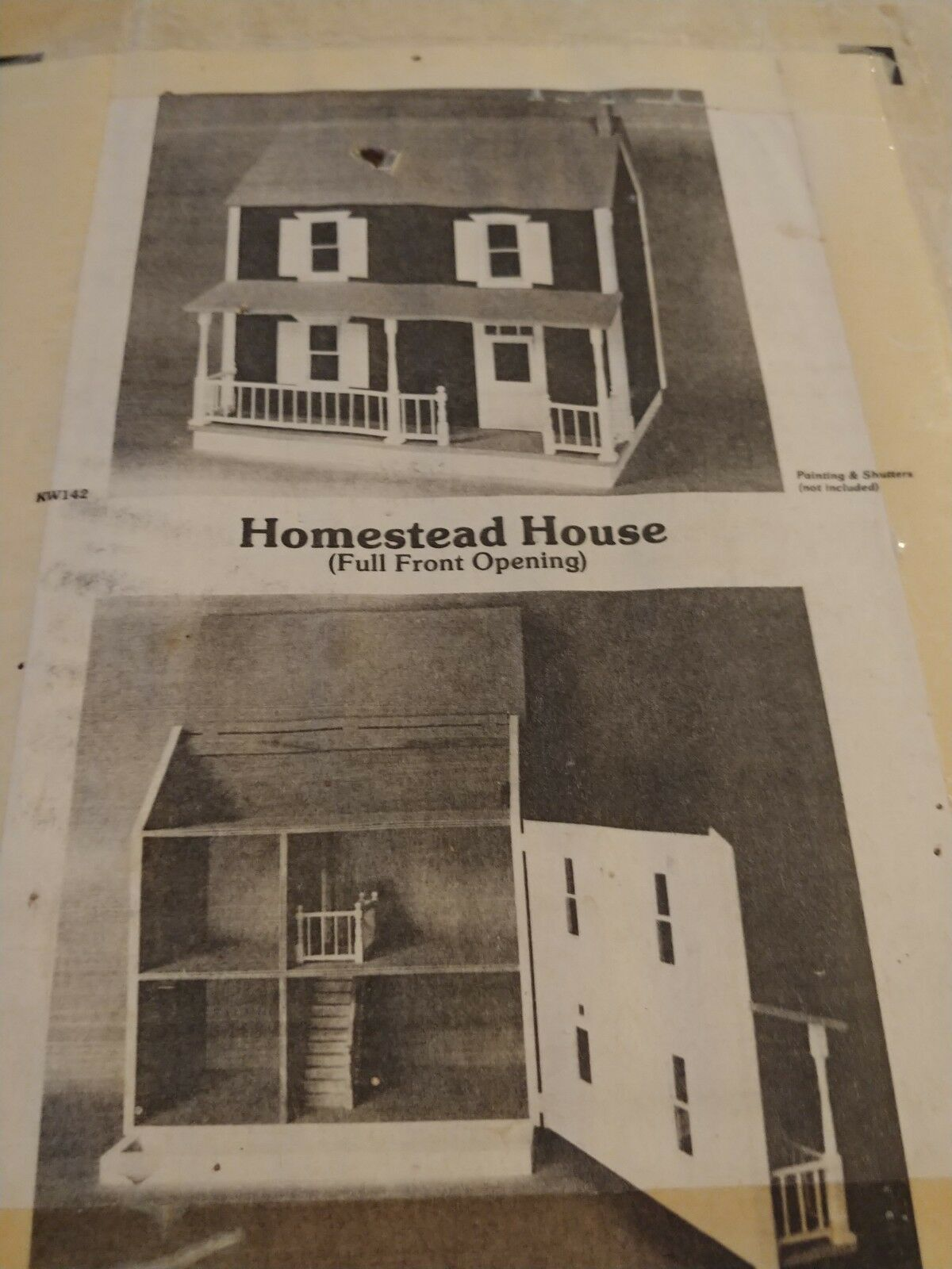 VINTAGE RARE HOFCO KW-142 Homestead House Dollhouse Kit  COMPLETE IN open BOX