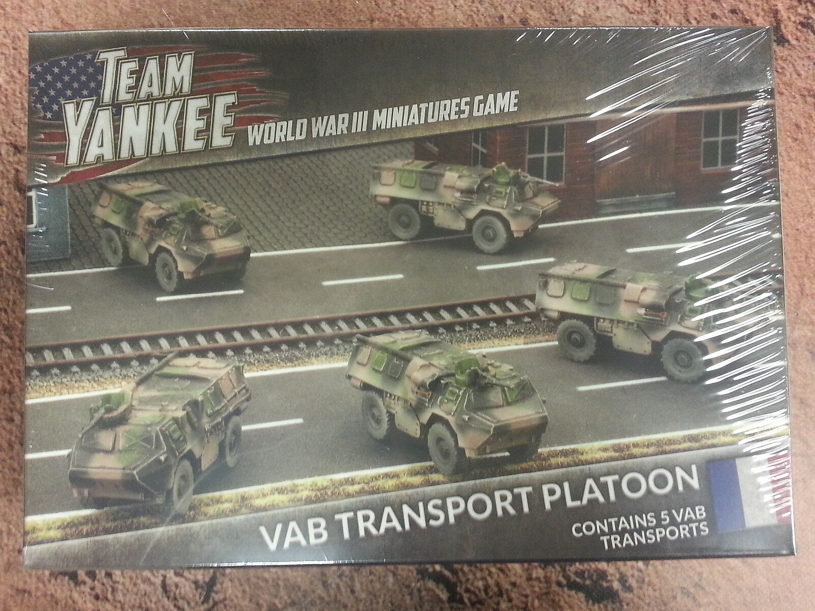 TEAM YANKEE FRENCH VAB TRANSPORT PLATOON - 5 TRANSPORTS -  NEW AND SEALED
