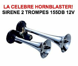 HORNBLASTER-SIRENE-AMERICAINE-2-TROMPES-155db-HARLEY-BUELL-DUCATI-GOLDWING-BMW