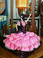 "Vintage Retro Kitsch Marin Spanish 10"" Flamenco Lady Dancer Stand.Tretchikoff vg"