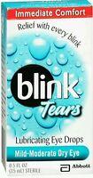 2x Blink Tears Lubricating Eye Drops 15 Ml ( 30ml Total)