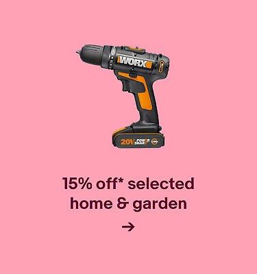 15% off* selected home & garden