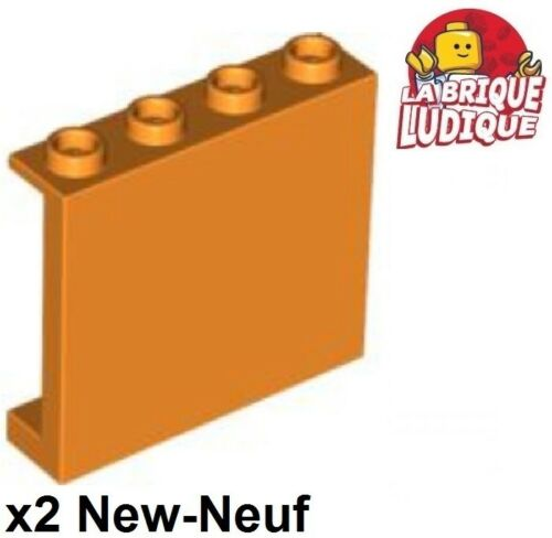 Studs orange 60581 NEUF 2x Panel Panneau 1x4x3 Side Supports H Lego