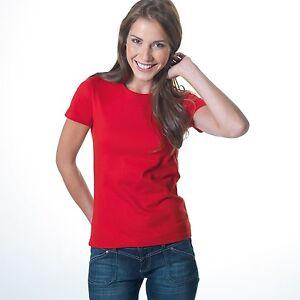 Brand-New-Women-039-s-Plain-Blank-Budget-Short-Sleeve-Cotton-Stedman-T-Shirt