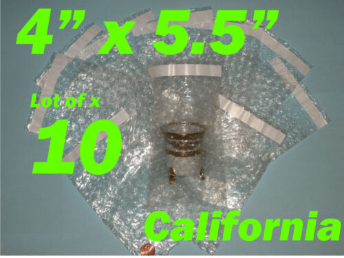 """10 4X5.5 Bubble Out Pouches Bags Wrap Self Seal /"""" Bags"""