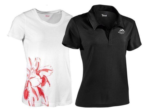 Damen Funktionsshirt Fitness Sport Jogging Shirt Poloshirt Rundhalsshirt