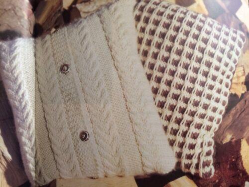 BK13-Tejer patrón-par de fundas de cojines//Aran