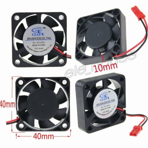 5pcs 40mm RC Cooling Fan Ball Bearing 12V JST DC Brushless Cooler Fan 15000RPM