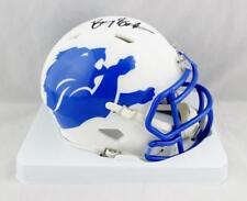 Barry Sanders Signed Detroit Lions AMP Speed Mini Helmet -JSA Auth *Black