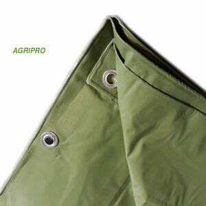 Telo-PVC-telone-occhiellato-copertura-impermeabile-esterni-VERDE-multiuso-ULTRA