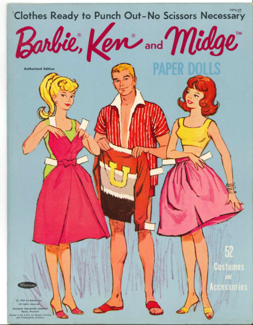 VINTAGE 1960s Wedding Day PAPER DOLL LASER REPRODUCTION~LO PR~HI QUAL~TOP SELLER