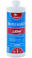 Rx Clear Algaecide 60 Plus Prevents Algae Swimming Pool Chemical-1 Qt