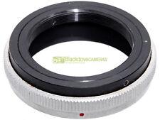 Adattatore per ottiche e accessori T2 su innesto Canon FD. Adapter Adaptall/FD