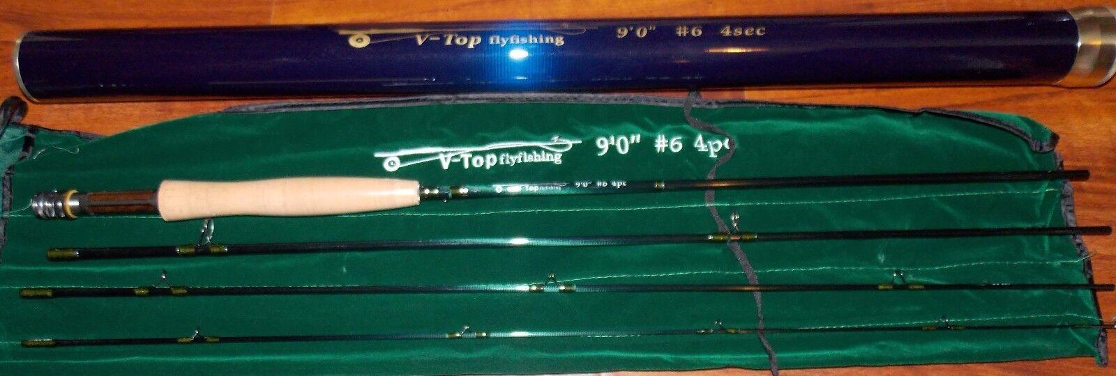 9'0'' WT 4Sec V-TOP Fly Fishing Rod FREE 3 DAY SHIPPING